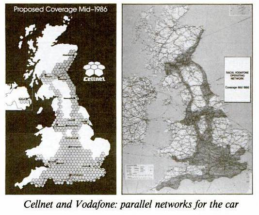 UK Mobile Phone Coverage In 1985
